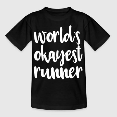 World's okayest runner - Kids' T-Shirt