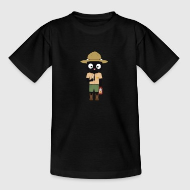 Park Ranger cat with uniform - Kids' T-Shirt