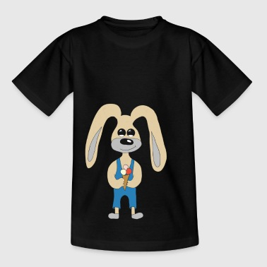 Bunny with ice - Kids' T-Shirt