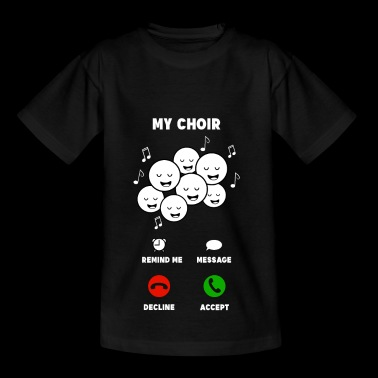 Chorus mobile musician singing gift - Kids' T-Shirt