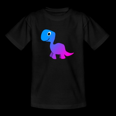 Cute Blue Pink Dinosaur - Kids' T-Shirt