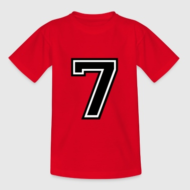 Number 7 Seven - Kids' T-Shirt