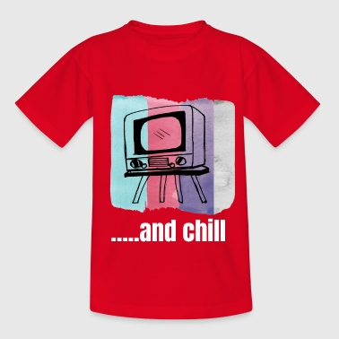 Netflix and chill t shirt - Kids' T-Shirt