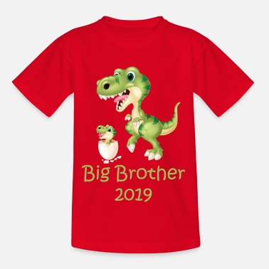 Brother T-Shirt Big Brother 2019 Big Brother Dino Trex - Maglietta per bambini