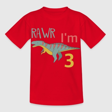 For the 3rd birthday for boys Ceratosaurus - Kids' T-Shirt