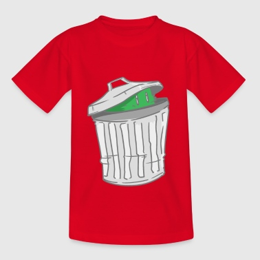 Trash - trash can - hide - Kids' T-Shirt