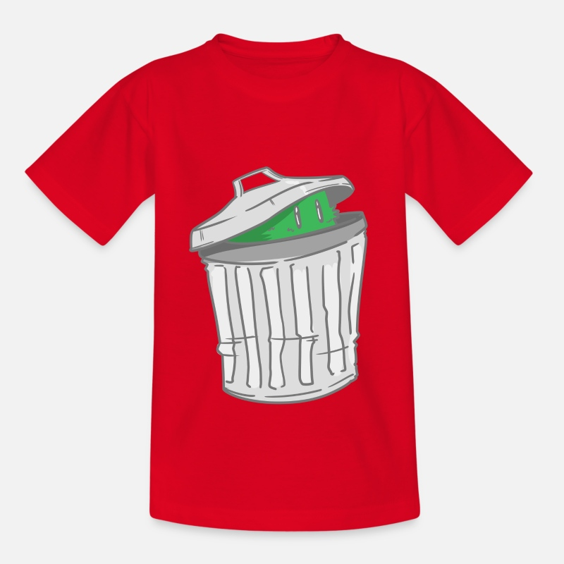 Trash Can T-Shirts - Trash - trash can - hide - Kids' T-Shirt red