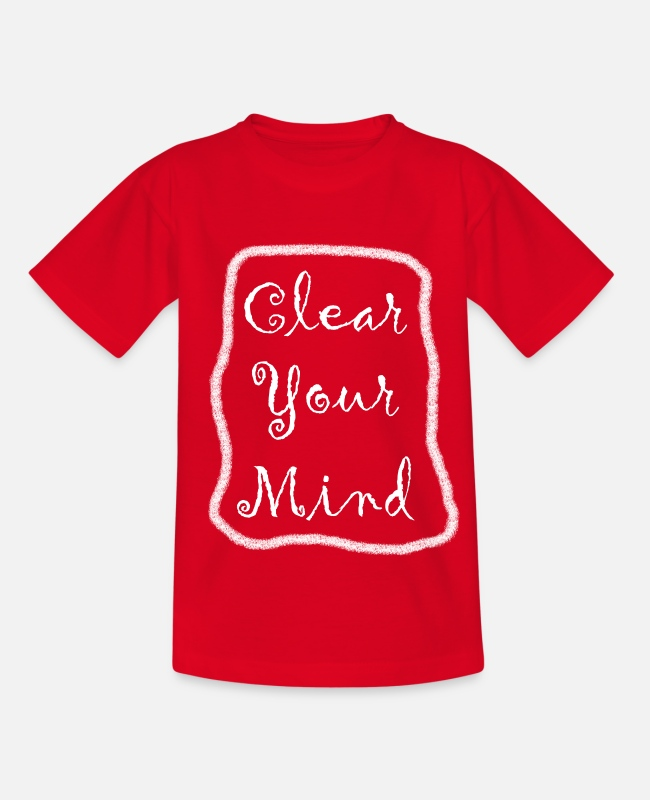 Motivation T-Shirts - Clear Your Mind Motivation Geschenk Spruch - Kinder T-Shirt Rot