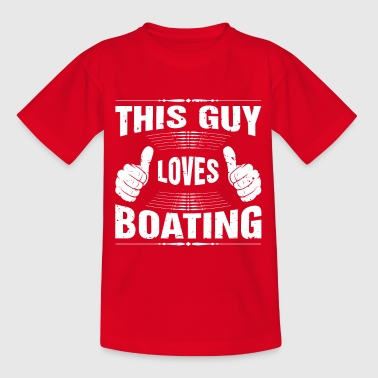 This Guy Loves Boating Gift - Kids' T-Shirt
