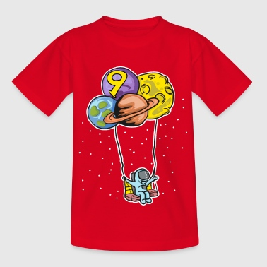 Astronaut with planet balloons - 9th birthday - Kids' T-Shirt