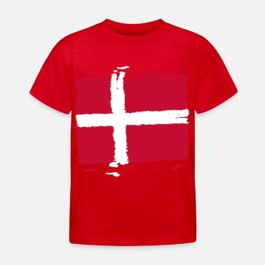 ae800793 Danmark Danmark flagg - Danmark flagg - T-skjorte barn