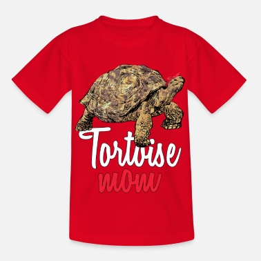 African Spurred Mom Sulcata Tortoise - Kinder T-Shirt