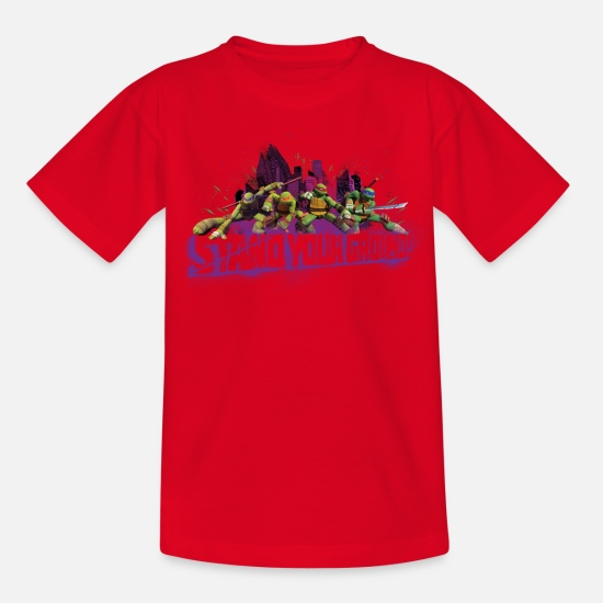 Tortue T-shirts - Enfant Tee Shirt TURTLES 'Stand your ground!' - T-shirt Enfant rouge