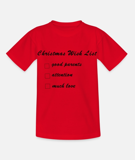 Heart T-Shirts - Christmas wish list of babies and children - Kids' T-Shirt red