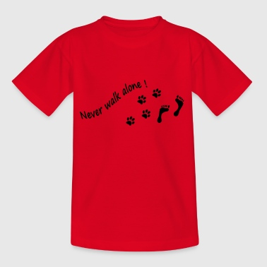 Never walk alone - Kinder T-Shirt