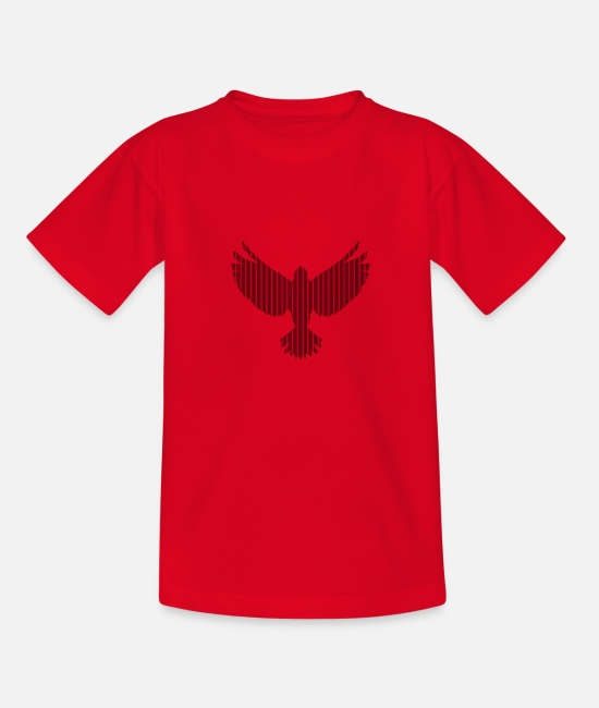 Heaven T-Shirts - bird - Kids' T-Shirt red