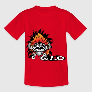 Indian skull - Kids' T-Shirt