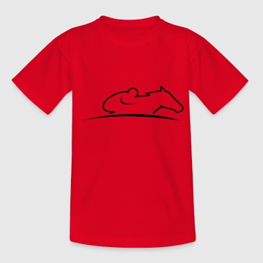 The fascination of gallop racing - Kids' T-Shirt