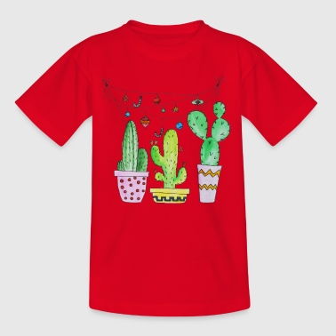 Cactus, cactus, cactus with garland - Kids' T-Shirt