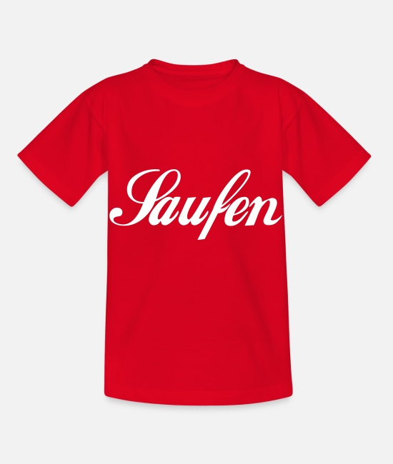 Bar T-Shirts - Saufen - Kinder T-Shirt Rot