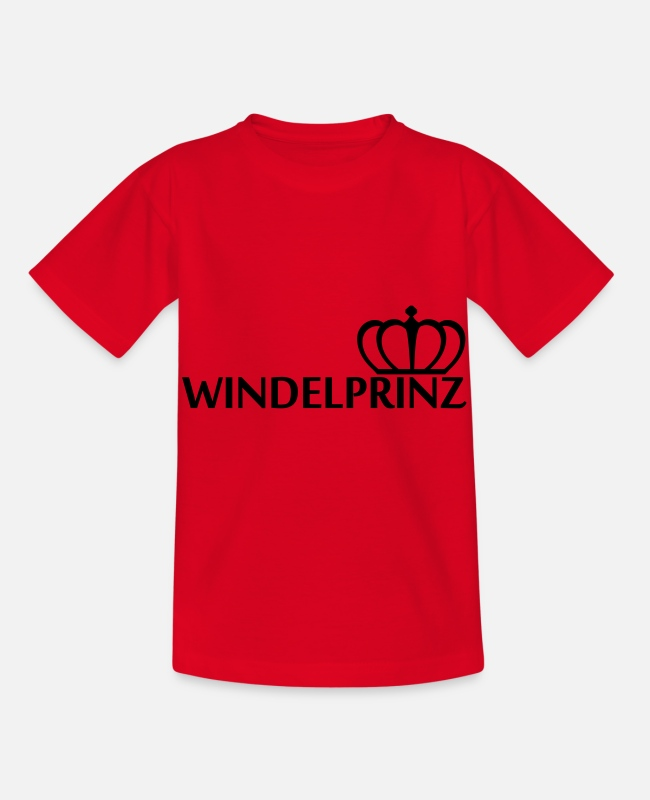 Putzig T-Shirts - Windelprinz - Kinder T-Shirt Rot