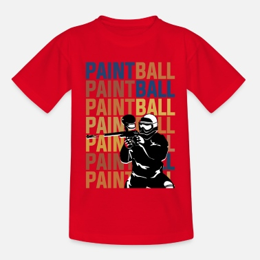Paintball PAINTBALL PAINTBALL PAINTBALL - T-shirt til børn