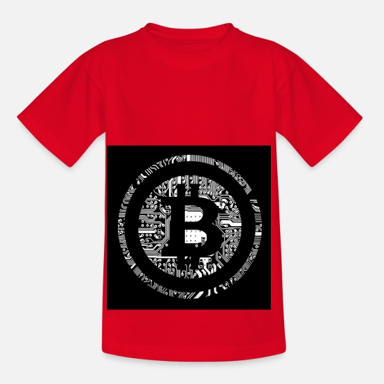 Digital T-Shirts - bitcoin future - Kids' T-Shirt red