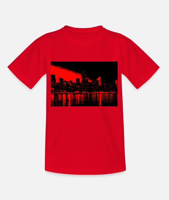 Red T-Shirts - new york black red - Kids' T-Shirt red