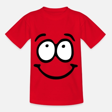 Smiley Face Funny Face, Cartoon Face, Trickfilm, Smiley - Kinderen T-shirt