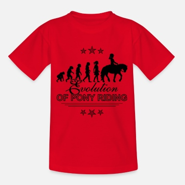 Dressurpferd Evolution of Pony Riding Reitershirt für Kinder - Kinder T-Shirt