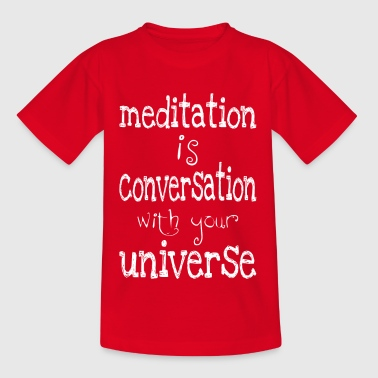 meditation is - Kids' T-Shirt