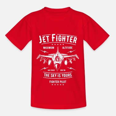 Fighter Jet Fighter the sky is yours - Kids' T-Shirt