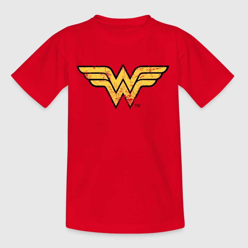 Wonder Woman Logo T-Shirt für Frauen, Superhelden T-Shirt - Kinder T-Shirt