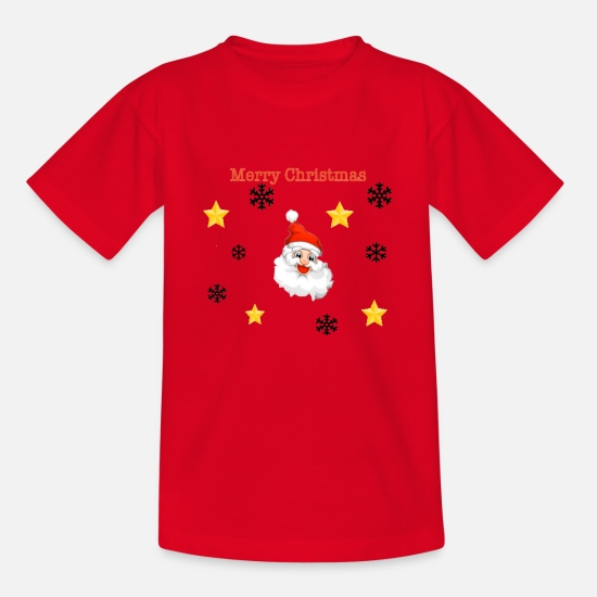 Snowman T-Shirts - wine eight man - Kids' T-Shirt red