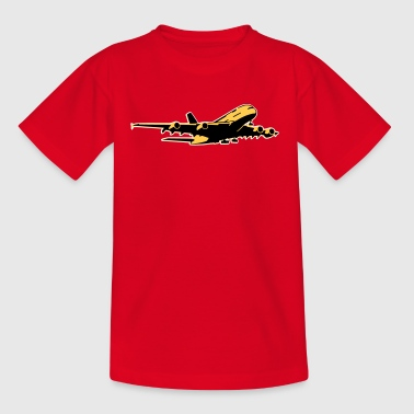 airplane Flugzeug A 380 (3 color) - Kids' T-Shirt