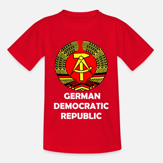 Social T-Shirts - GDR knows - Kids' T-Shirt red