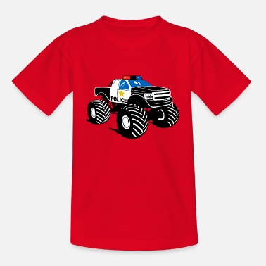 Police Monster Truck - Police Car Big Foot - Kids' T-Shirt