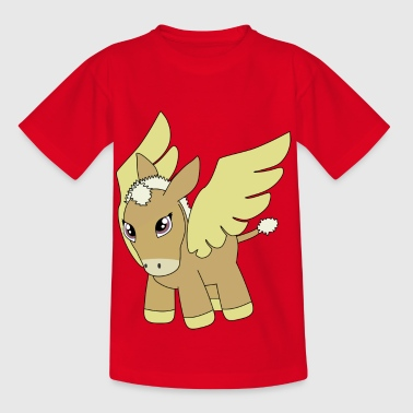 Esel Cartoon - Kinder T-Shirt