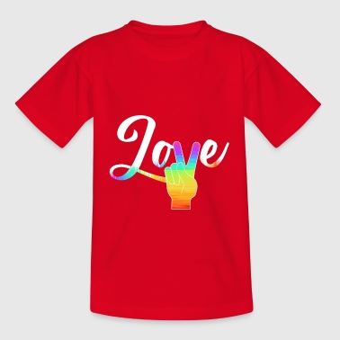 Love Peace - Camiseta niño