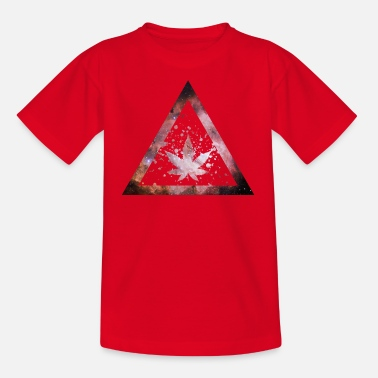 Galaxy Weed Marijuana Triangle Splashes - Kids' T-Shirt