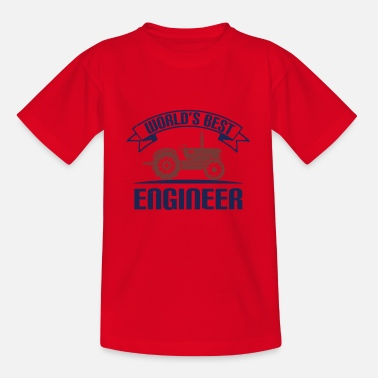 Construction Best Ingenieru - saying tractor - Kids' T-Shirt