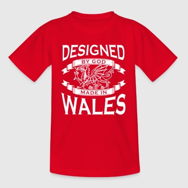 Designed by God - Wales M - Kids' T-Shirt