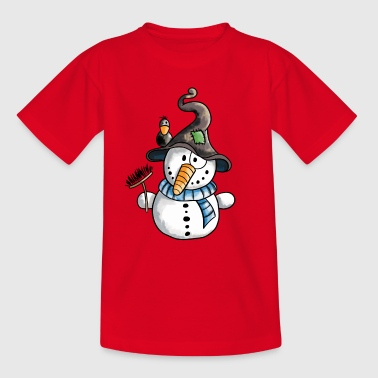 Drolliger Schneemann - Winter - Schnee - Comic - Kinder T-Shirt