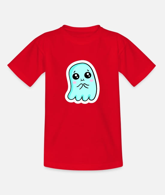 Ghoulish T-Shirts - ghost - Kids' T-Shirt red