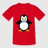 Pinguin Vögel Flossen Fliege Krawatte Frack Winter - Kinder T-Shirt