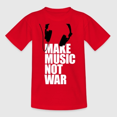 Make music not war - Kinderen T-shirt