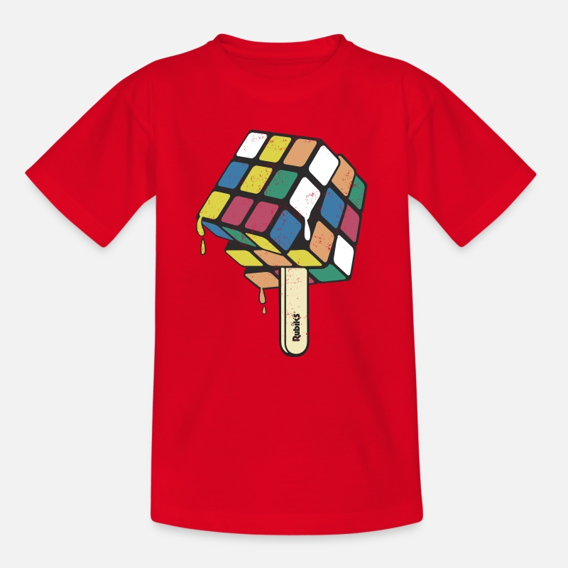 Officialbrands T-Shirts - Rubik's Cube Ice Lolly - Kids' T-Shirt red