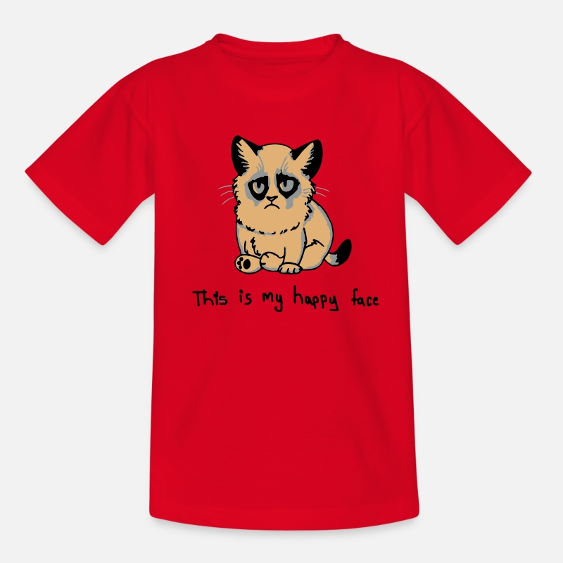 This T-Shirts - This is my happy face - Kids' T-Shirt red