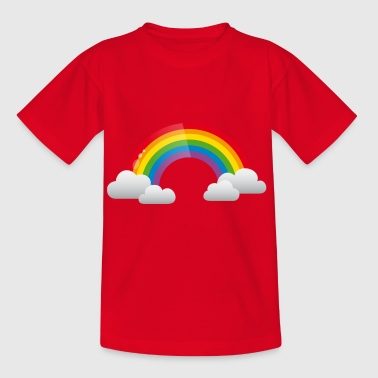 Rainbow and Clouds - Kids' T-Shirt