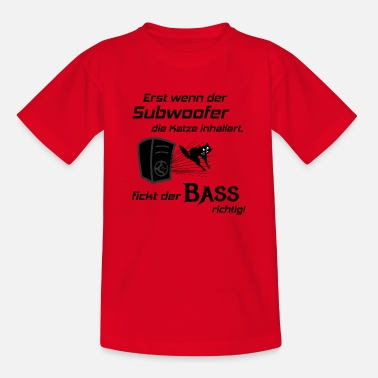Hifi Car Hifi - Subwoofer Katze, Hifi-Shirt Bass Lover - Kinder T-Shirt